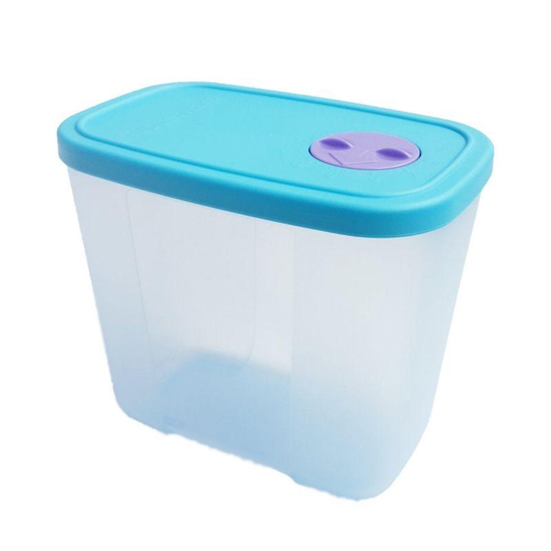 Tupperware Pocket Freezermate with Dial Biru Tempat Penyimpanan Makanan