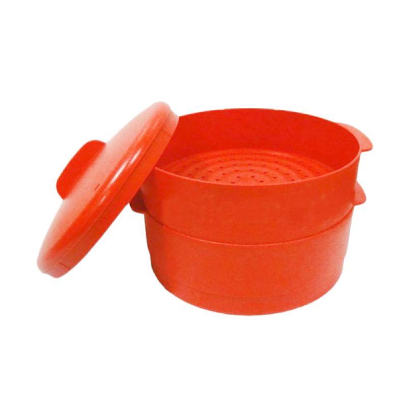 Tupperware Steam It Merah Tempat Penyimpanan Makanan