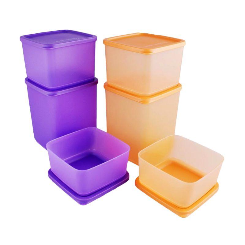 Tupperware Summer Fun Orange Purple Tempat Penyimpanan Makanan [6 Pcs]