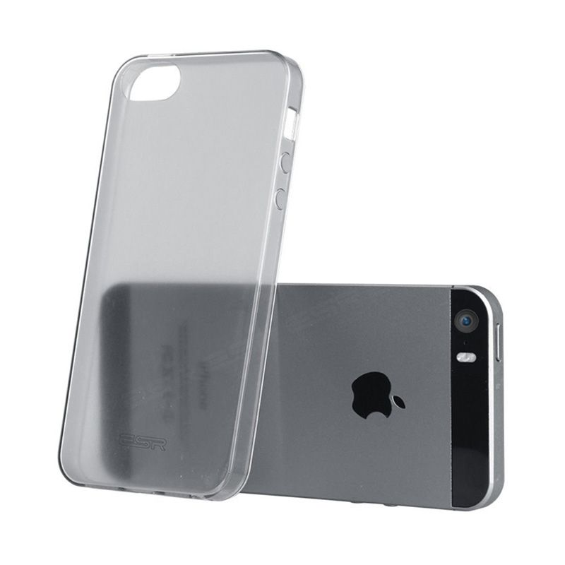 iBuy Rubber Ultra Thin Jelly Grey Casing for iPhone 5 [0.3 mm]