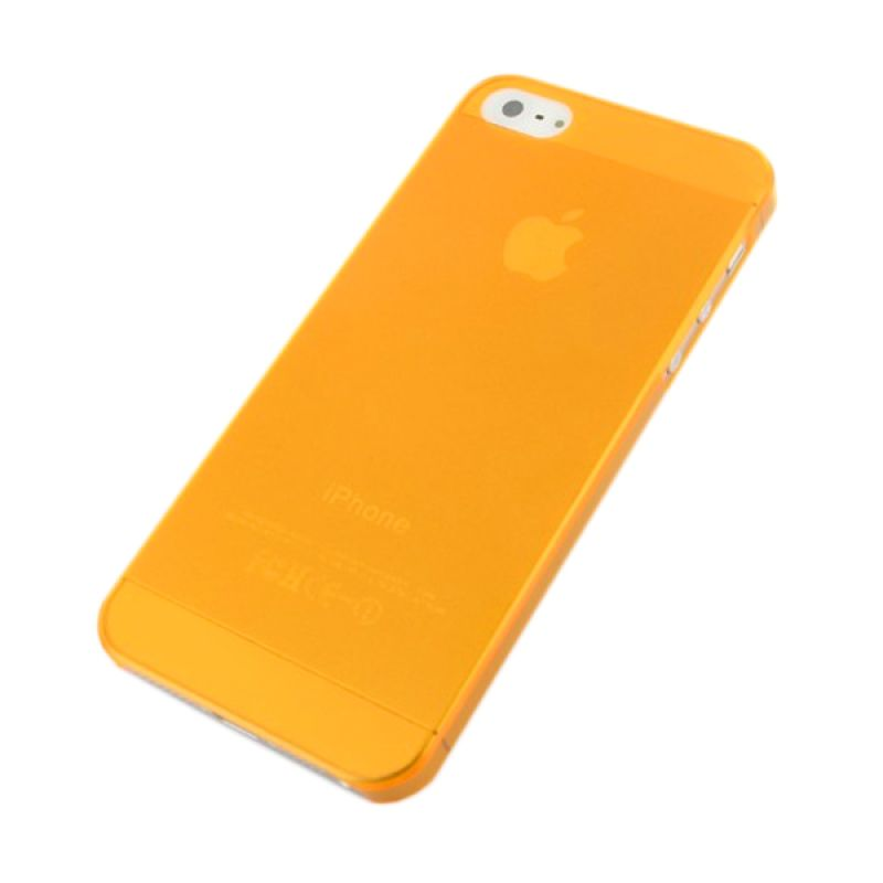iBuy Ultra Thin Orange Casing for Apple iPhone 5 [0.2 mm]