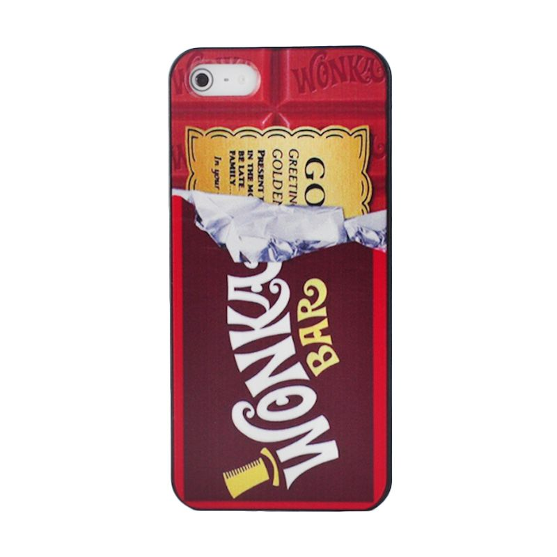 iBuy Wonka Chocolate Black Red Casing for Apple iPhone 5 or 5S