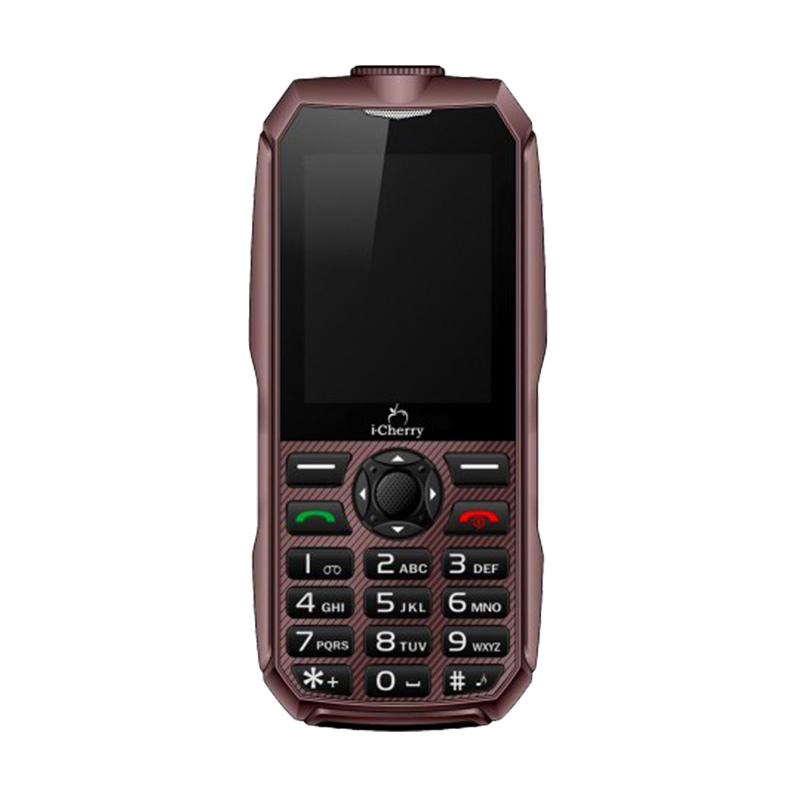 harga iCherry C96 Titanium Handphone - Cokelat [Tahan Banting/Baterai 3000 mAh] Blibli.com