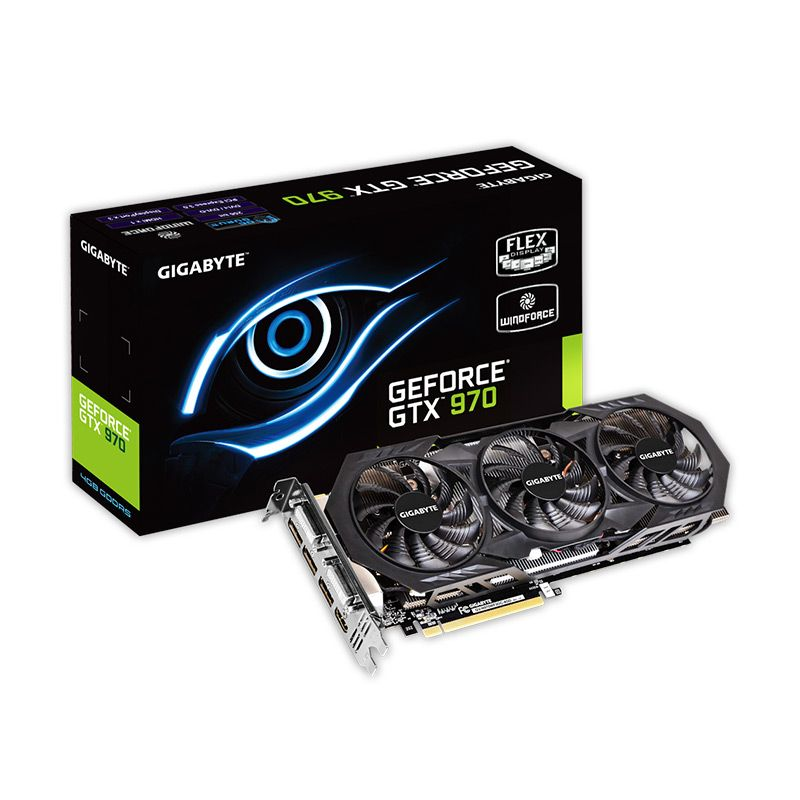 Gigabyte GV-N970WF3OC-4GD GeForce GTX 970 VGA Card [4 GB/256bit/DDR5]