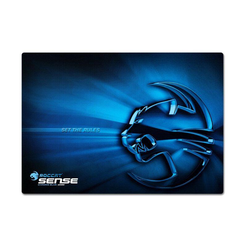 ROCCAT Sense Chrome Blue Gaming Mouse Pad