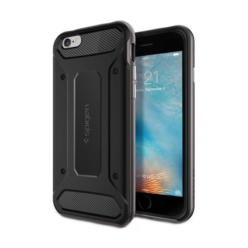 Spigen Neo Hybrid Carbon Gunmetal Casing for iPhone 6S or 6 [4.7 Inch]