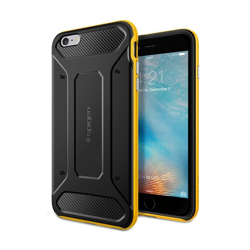 Spigen Neo Hybrid Carbon Yellow Casing for iPhone 6S or 6 [4.7 Inch]