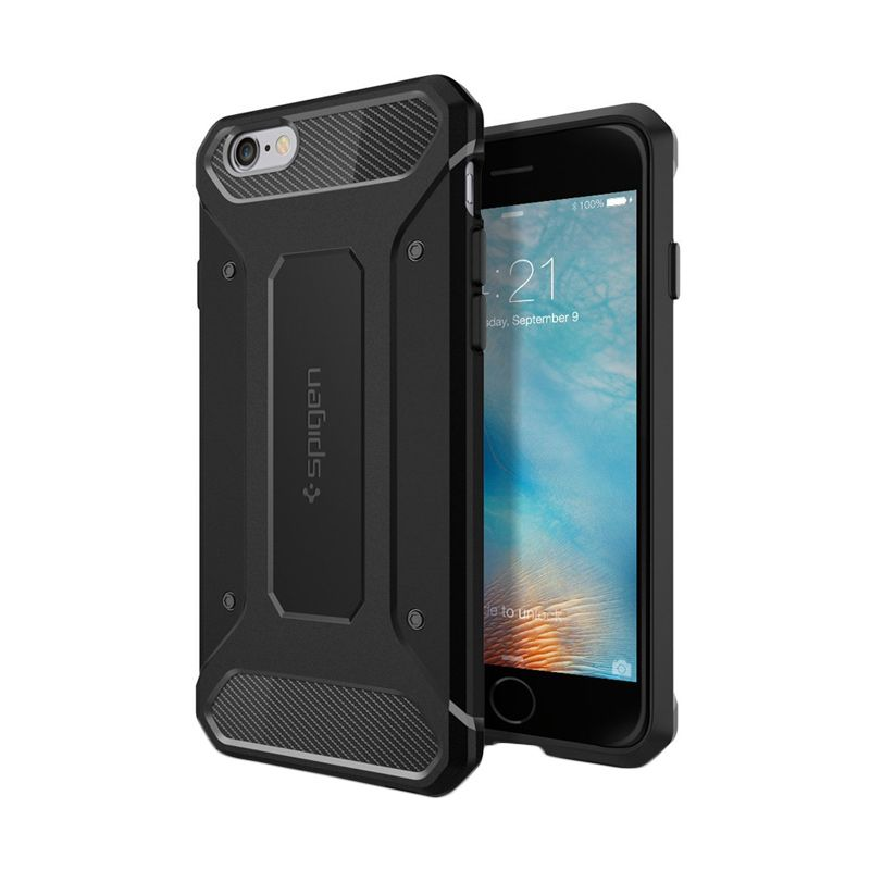 Spigen Rugged Armor Black Casing for iPhone 6S or 6 [4.7 Inch]