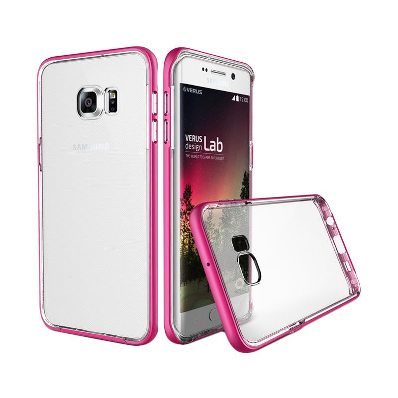 Verus Crystal Bumper Hot Pink Casing for Samsung Galaxy S6 Egde Plus