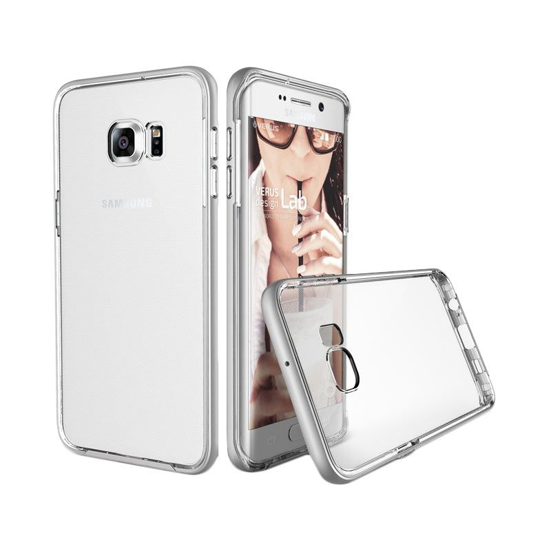Verus Crystal Bumper Light Silver Casing for Samsung Galaxy S6 Edge Plus