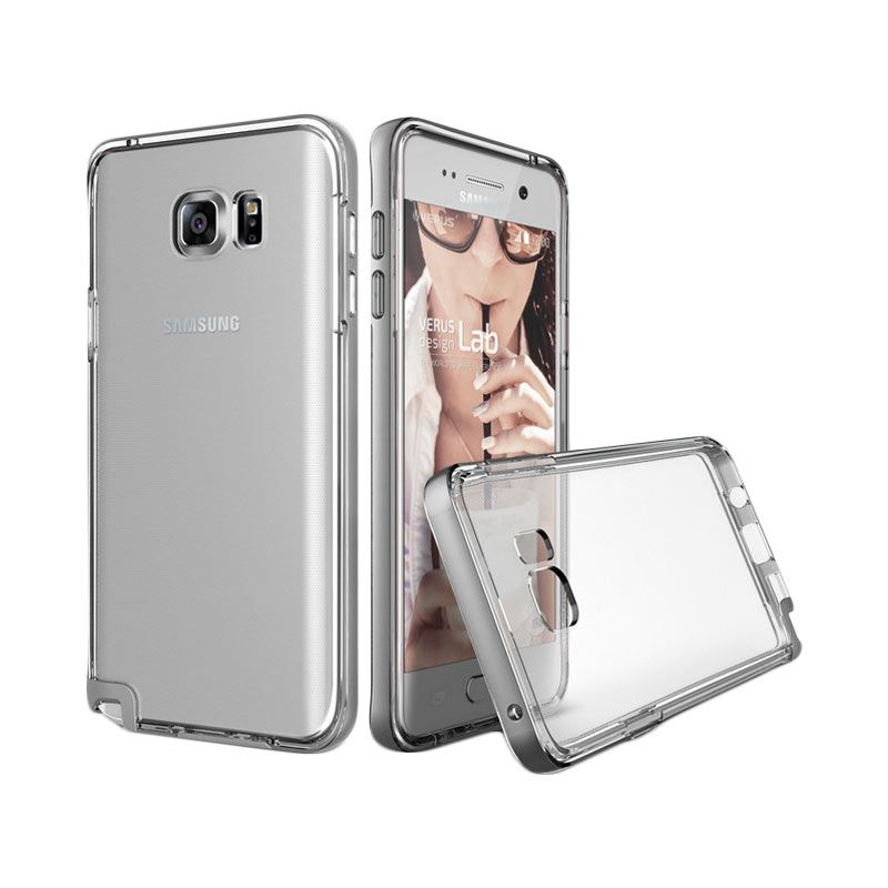 Verus Crystal Bumper Light Silver Casing for Samsung Galaxy Note 5