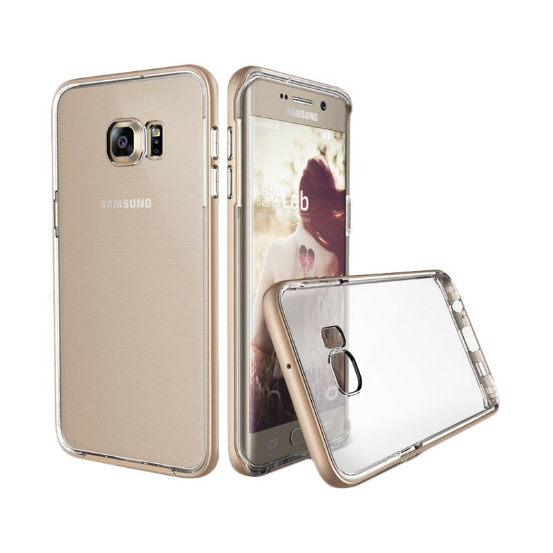 Verus Crystal Bumper Shine Gold Casing for Samsung Galaxy S6 Edge Plus
