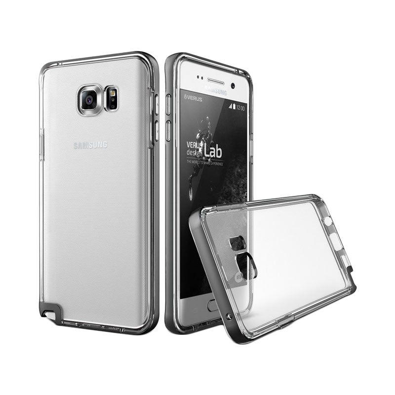 Verus Crystal Bumper Steel Silver Casing for Samsung Galaxy Note 5