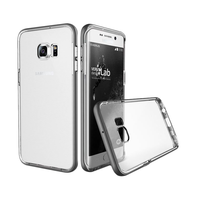 Verus Crystal Bumper Steel Silver Casing for Samsung Galaxy S6 Edge Plus