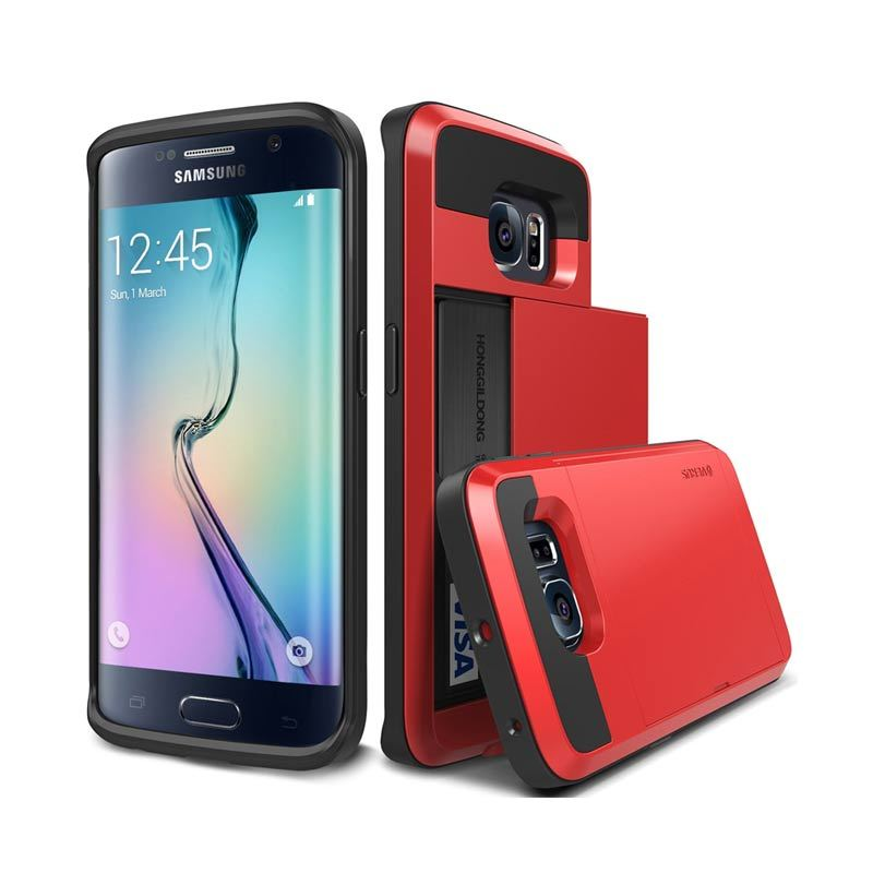 Verus Damda Slide Crimson Red Casing for Galaxy S6 Edge