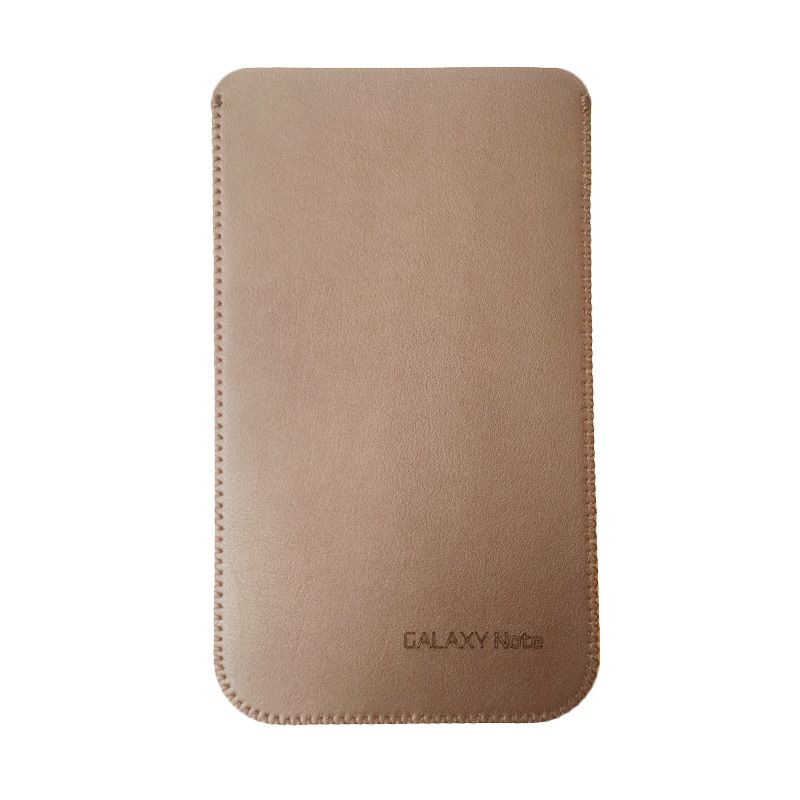 Leather Pouch Genuine Brown Pouch for Samsung Galaxy Note 5