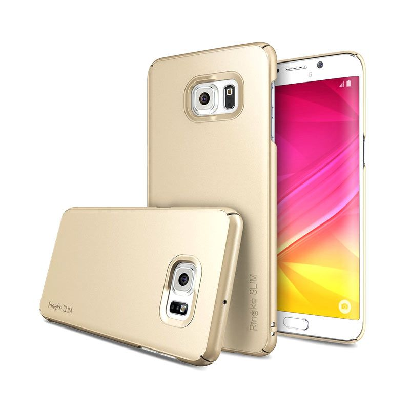 Ringke Slim Gold Hardcase Casing for Samsung Galaxy S6 Edge Plus