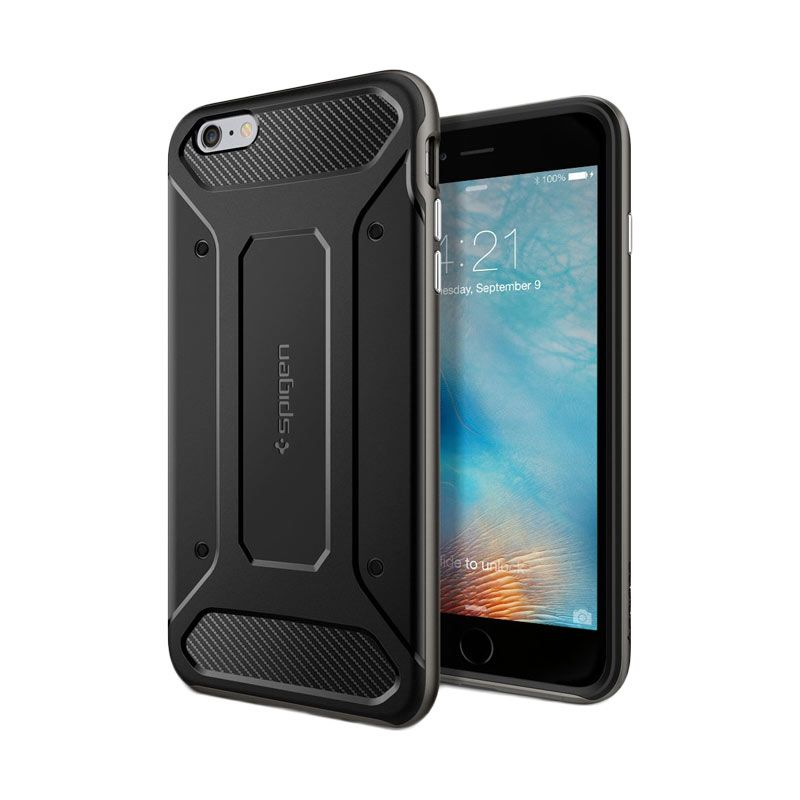 Spigen Neo Hybrid Carbon Gunmetal Casing for iPhone 6S Plus or 6 Plus [5.5 Inch]