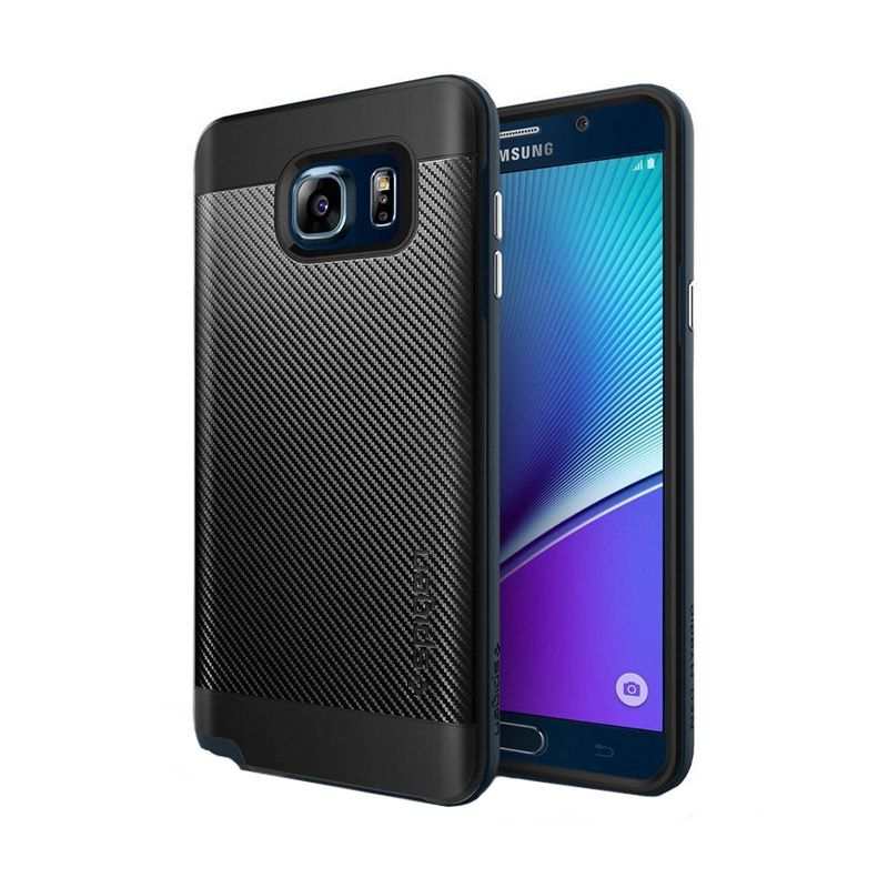 Spigen Neo Hybrid Carbon Metal Slate Casing for Samsung Galaxy Note 5