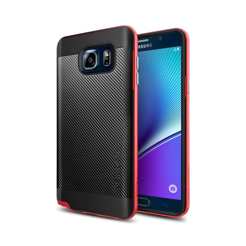 Spigen Neo Hybrid Carbon Red Casing for Samsung Galaxy Note 5