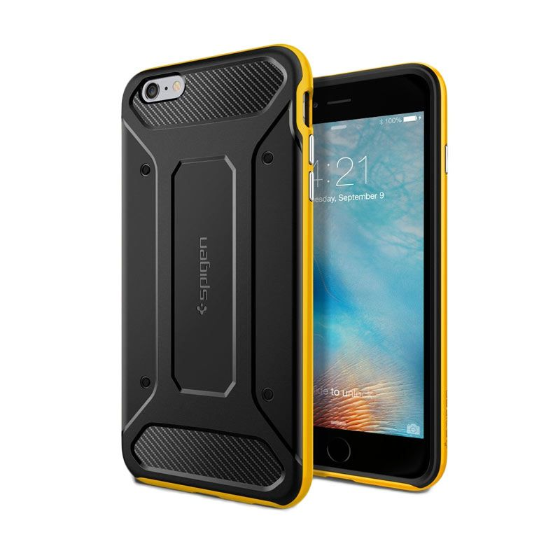 Spigen Neo Hybrid Carbon Yellow Casing for iPhone 6S Plus or 6 Plus [5.5 Inch]