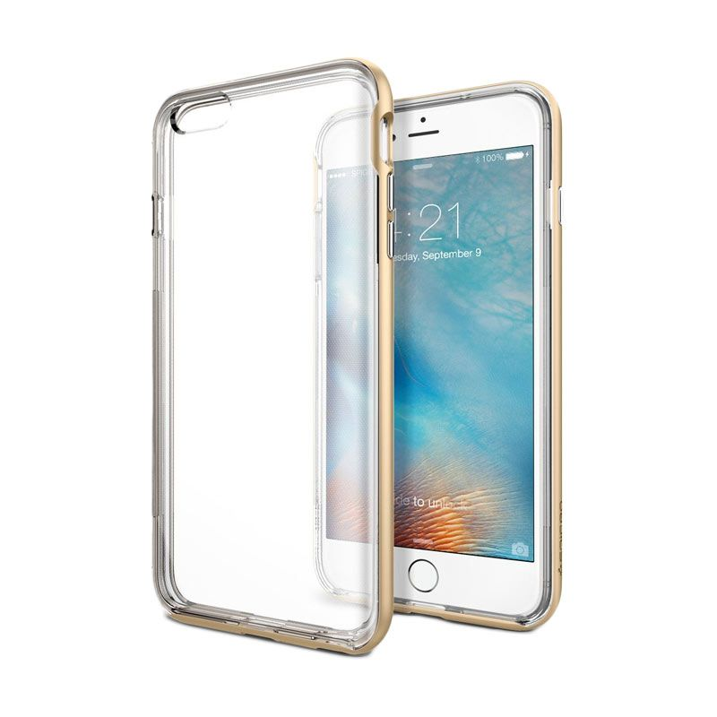 Spigen Neo Hybrid EX Gold Casing for iPhone 6S Plus or 6 Plus [5.5 Inch]