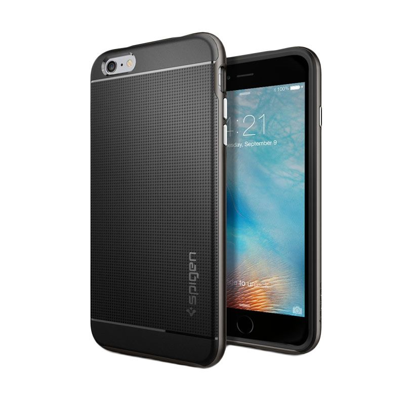 Spigen Neo Hybrid Gunmetal Casing for iPhone 6S Plus or 6 Plus [5.5 Inch]
