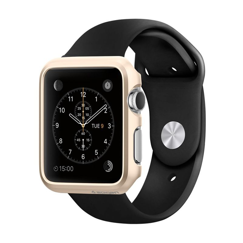 SPIGEN Thin Fit Champagne Gold Casing for Apple Watch [42 mm]
