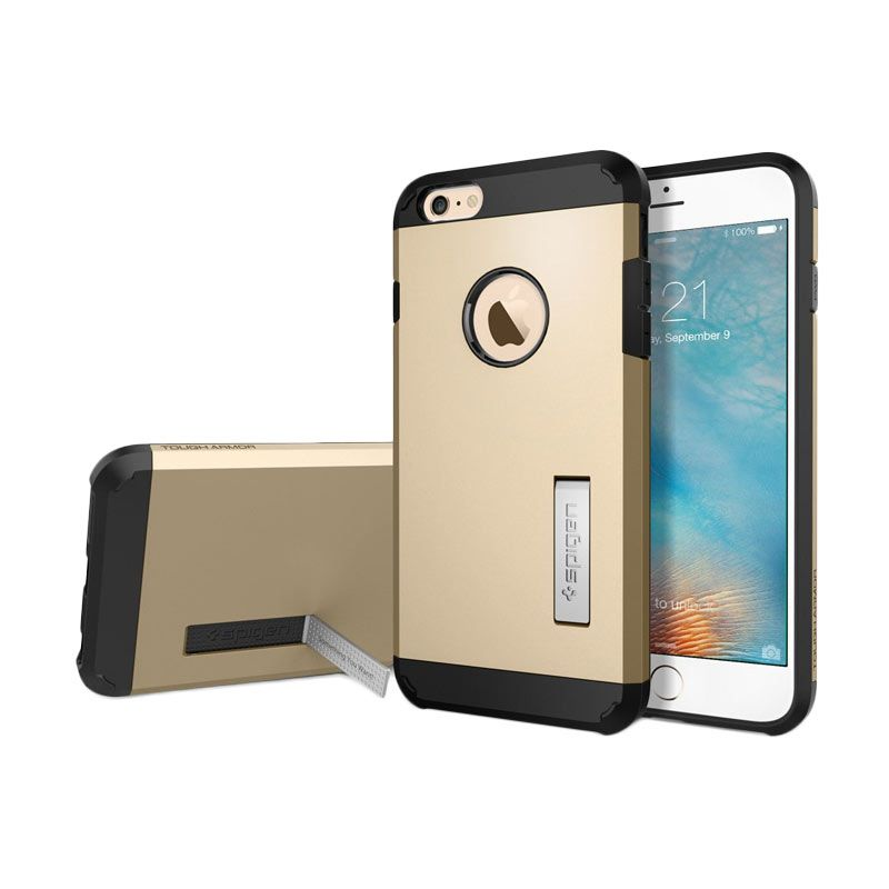 Spigen Tough Armor Gold Casing for iPhone 6S Plus or 6 Plus [5.5 Inch]