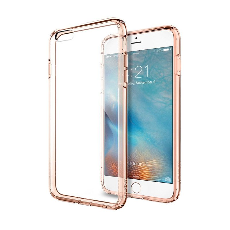 Spigen Ultra Hybrid Rose Gold Casing for iPhone 6S Plus or iPhone 6 Plus [5.5 Inch]