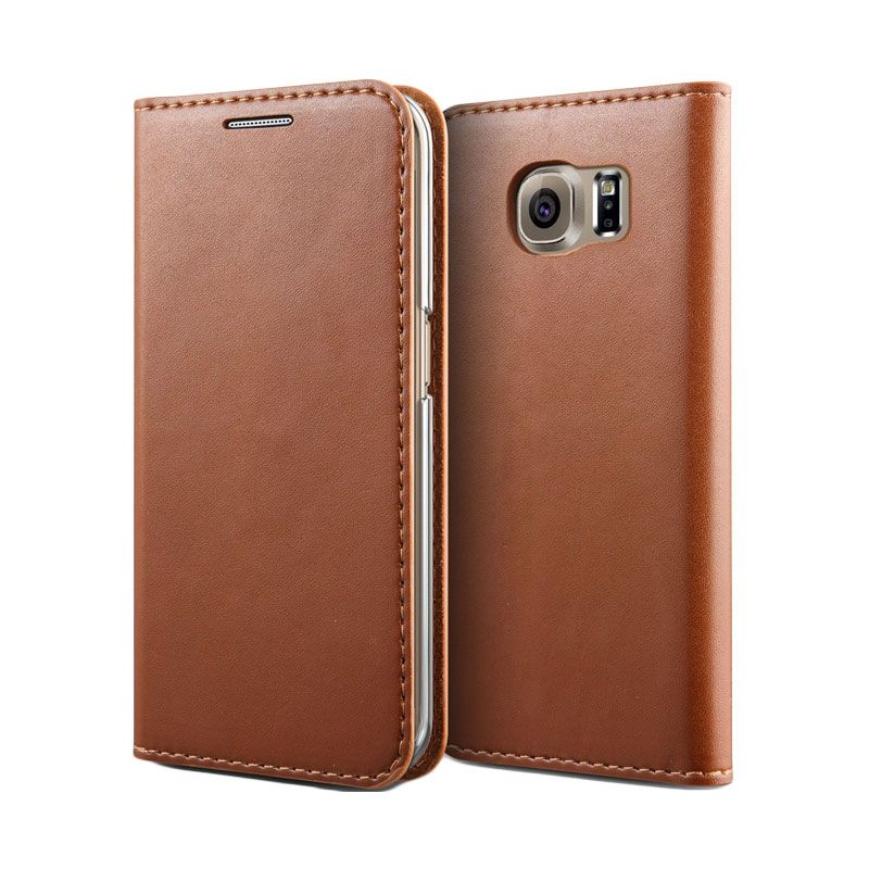 Verus Crayon Slim Brown Casing for Galaxy S6 Edge