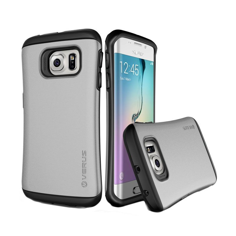 Verus Hard Drop Light Silver Casing for Galaxy S6 Edge