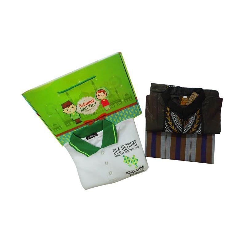 Valiant Baju Koko + Sarung + Polo Shirt [Paket Lebaran]