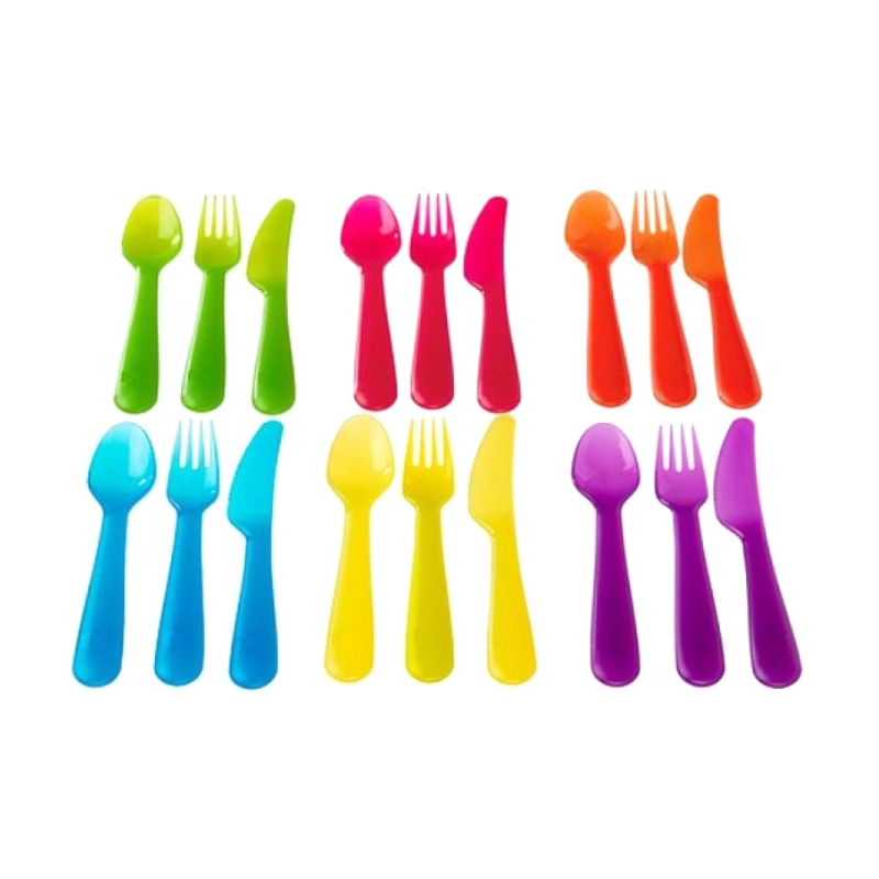 Ikea Kalas Multicolor Set Alat Makan [18 Pcs]