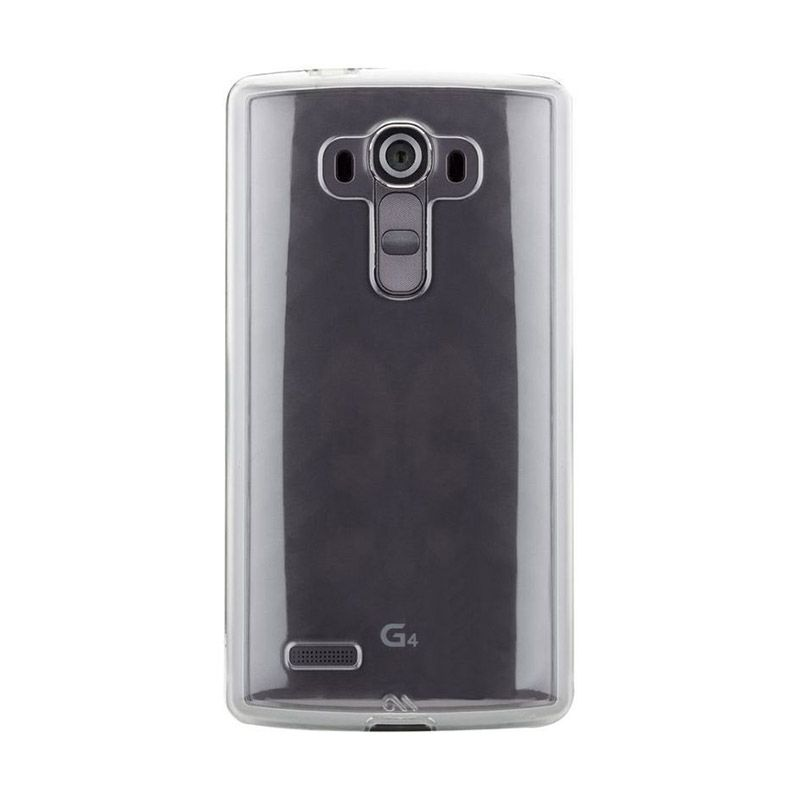 Casemate Slim Tough Hitam Silver Casing for LG G4