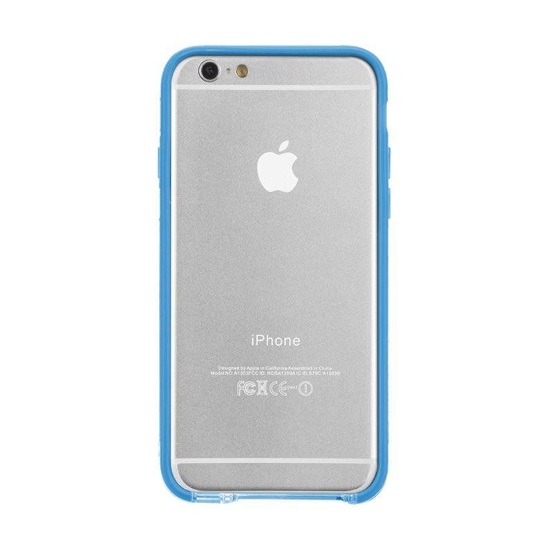 Casemate Tough Frame Clear Biru Casing for iPhone 6