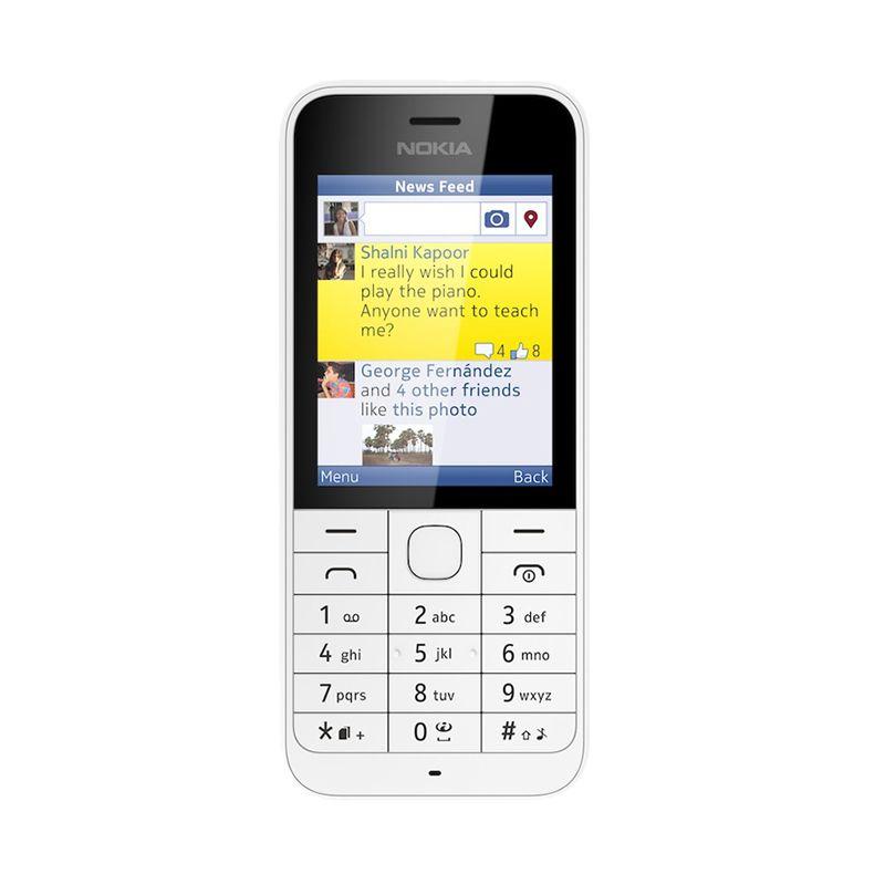 Nokia 220 White Handphone [Dual SIM]