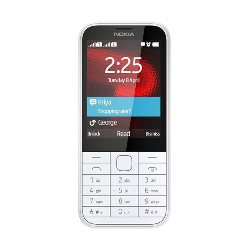 Nokia 225 Putih Handphone [Dual SIM]