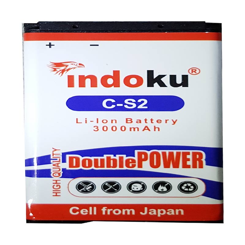 Indoku Double Power Baterai for Blackberry C-S2/Gemini/Kepler/Aries [3000 mAh]