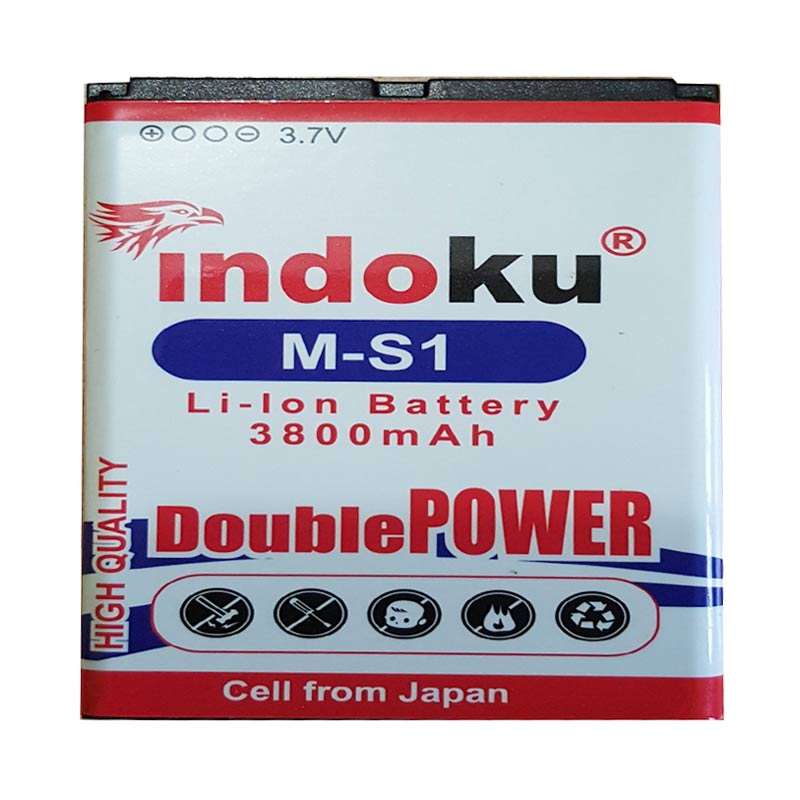 Indoku Double Power Baterai for Blackberry M-S1/Bold/Onyx/9000/9700/9780 [3800 mAh]
