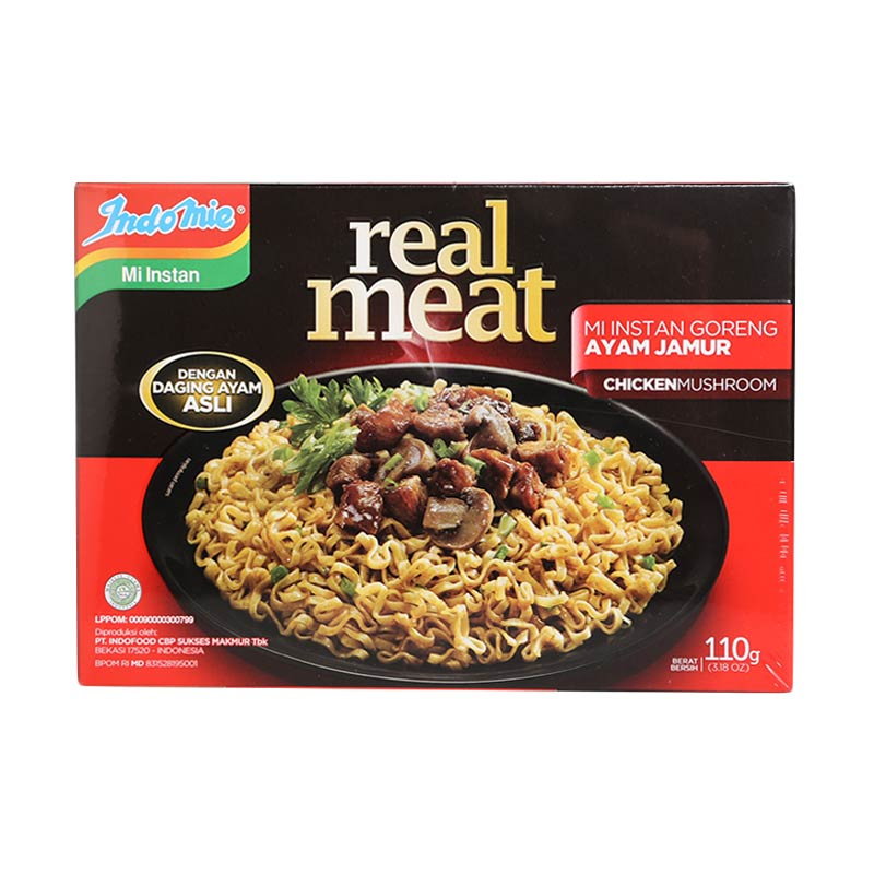 Indomie Real Meat Ayam Jamur Mie Instan [5 x 110 g]