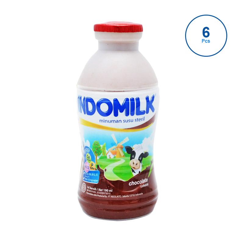 Indomilk Coklat Susu Cair [190mL / 6 pcs]
