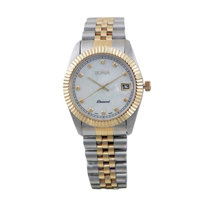 BONIA BN10081-5157 Silver Gold Jam Tangan Pria