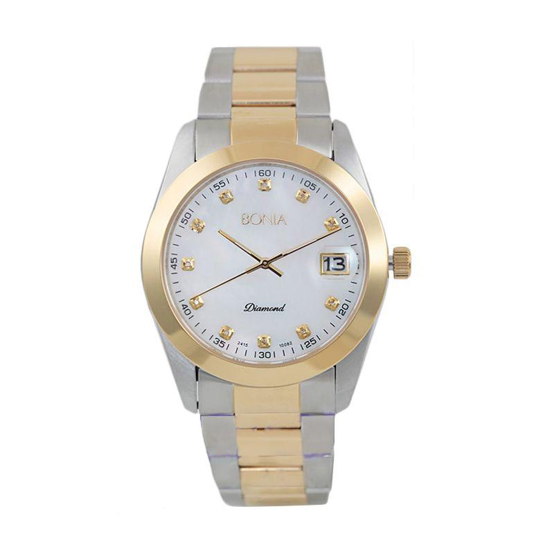 BONIA BN10082-5157 Silver Rose Gold Jam Tangan Wanita