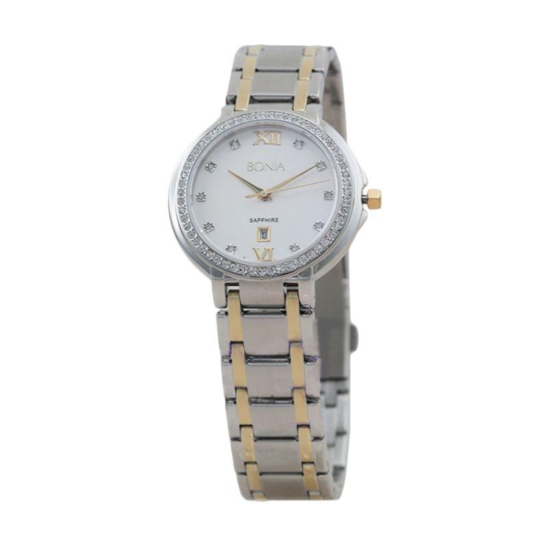 BONIA BN10091-2113S Silver Gold Jam Tangan Wanita