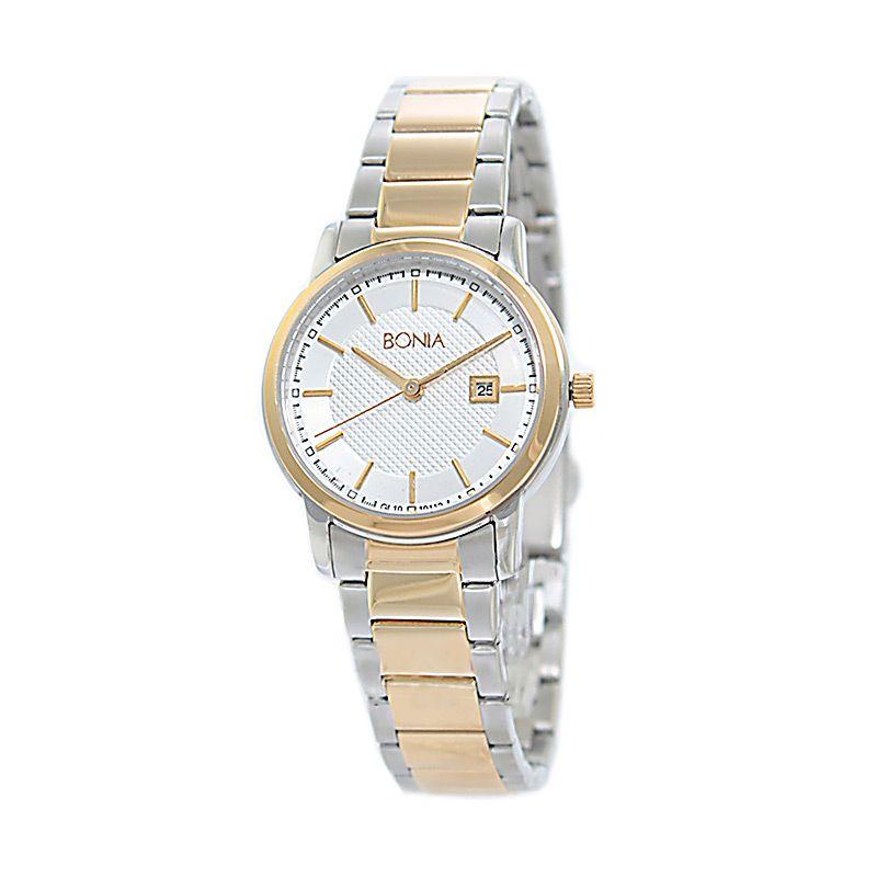 Bonia BN10112-2112S Silver Gold Jam Tangan Wanita