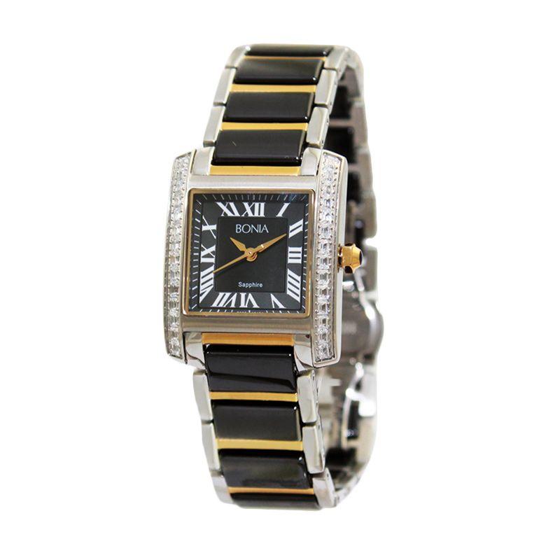 Bonia BN10124-2131S Black Gold Jam Tangan Wanita