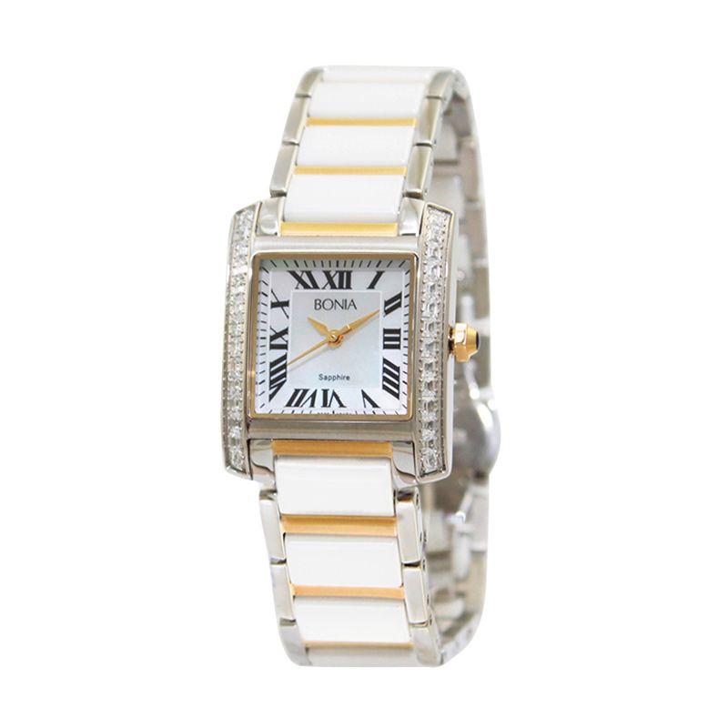 Bonia BN10124-2151S White Gold Jam Tangan Wanita