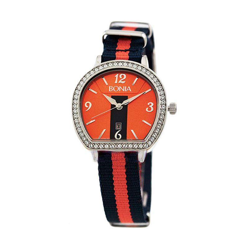 Bonia BN10129-2375S Blue Orange Jam Tangan Wanita
