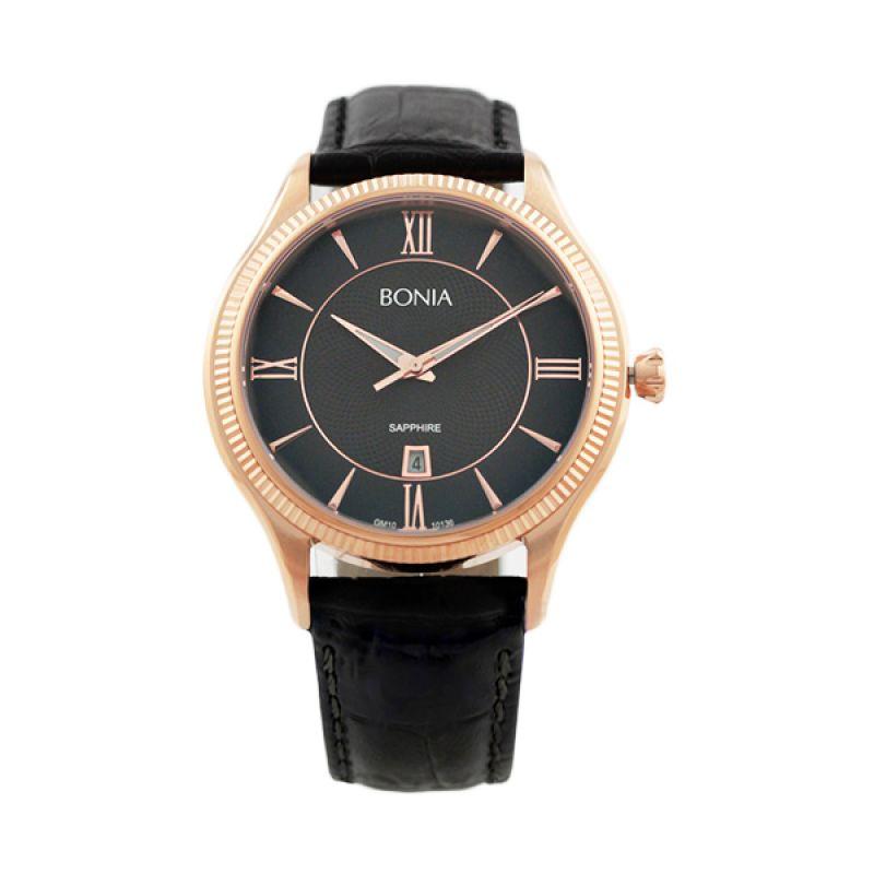 BONIA BN10136-1533 Black Jam Tangan Pria